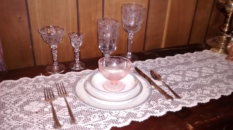 Deerlodge and Etched Stemware
